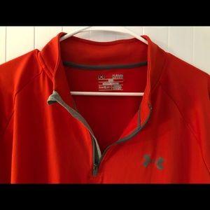 Under Armour Shirts - Mens 1/4 zip loose-fitting Under-armor sweatshirt